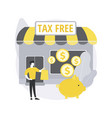 tax free service abstract concept vector image vector image