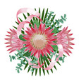tropical wedding bouquet vector image vector image