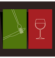 Wine list and menu design vector image vector image