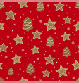 winter holidays seamless background with cookies vector image