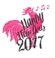 Happy new year 2017 design vector image
