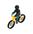 Racing syclist isometric 3d icon vector image
