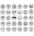 Set Circle Smiles vector image