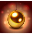 Glitter christmas ball vector image