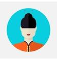 female asian avatar vector image