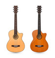 3d realistic classic old retro acoustic vector image vector image