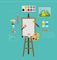 art icons flat design vector image vector image
