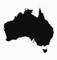 australia map - monochrome shape vector image