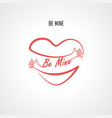 be mine typographical design elements vector image vector image