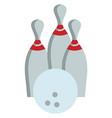 bowling ball and pins color vector image