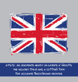 british flag flat - artistic brush strokes vector image vector image