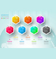 business hexagon labels shape infographic groups vector image vector image