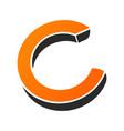 c letter logo monogram minimal style linear vector image