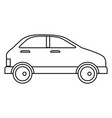 car vehicle sedan icon vector image