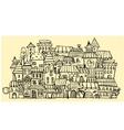 cartoon contour town vector image vector image