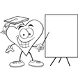 Cartoon Heart with Sign vector image vector image