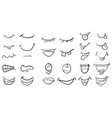 cartoon mouth set symbol icon design beautiful vector image vector image