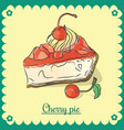 cherry pie vector image