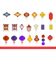 chinese lantern collection set vector image