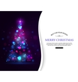 Christmas shining typographical background with vector image vector image