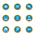 correct vision icons set flat style vector image vector image