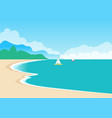 cute sea coast color banner vector image vector image