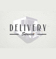 delivery service cargo transportation and vector image vector image