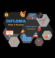 diploma horizontal poster vector image vector image