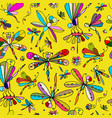 dragonflies seamless pattern for your design vector image vector image