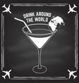 drink around world badge logo vector image
