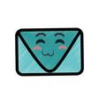 envelope cartoon smiley vector image