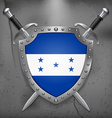 Flag of Honduras Medieval Background vector image vector image