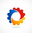 gear abstract color work industry logo vector image