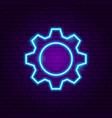 gear neon sign vector image