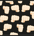 gesture fist person vector image vector image
