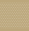 golden polka dot seamless geometric pattern vector image vector image