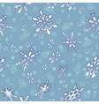 holiday seamless background with frosty snowflakes vector image vector image