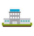 hospital building scenery vector image vector image