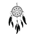 indian black dream catcher vector image vector image