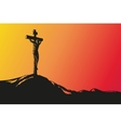 Jesus Christ Crucifiction hand drawn vector image vector image