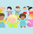 kindergarten multicultural preschool classmate vector image