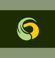 letter g swirl eco logo vector image vector image