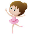 little girl in pink dancing ballet vector image