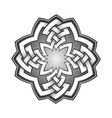 logo template in celtic knots style stylish vector image