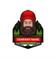 mountain man badge vector image