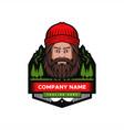 mountain man badge vector image vector image