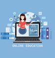 online education webinar icons composition with vector image vector image