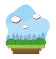 outdoors landscape scenery cartoon vector image