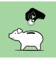 pig moneybox vector image vector image