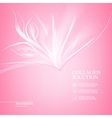 Pink background with scin care design vector image vector image
